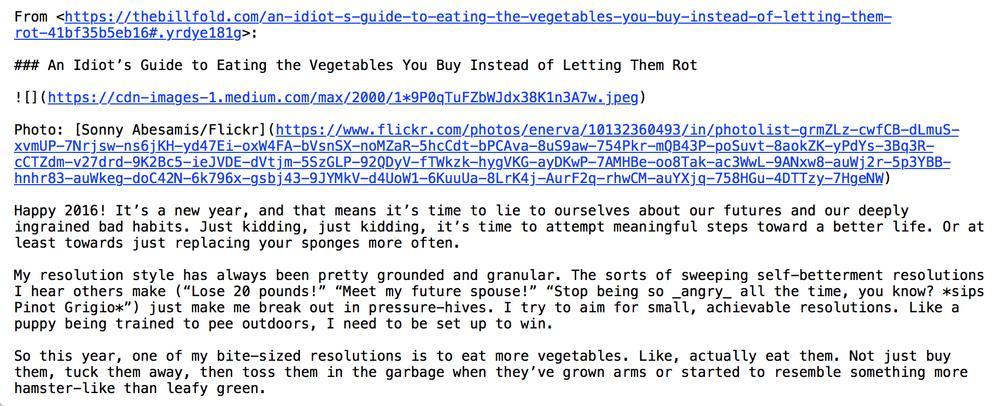 screenshot of nvALT's proper Markdown conversion of a Medium web page