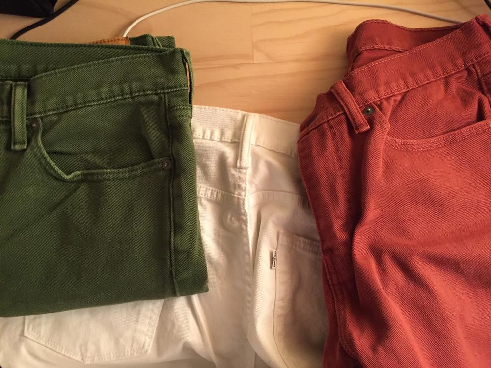 photo of Levi's 514 jeans in colors