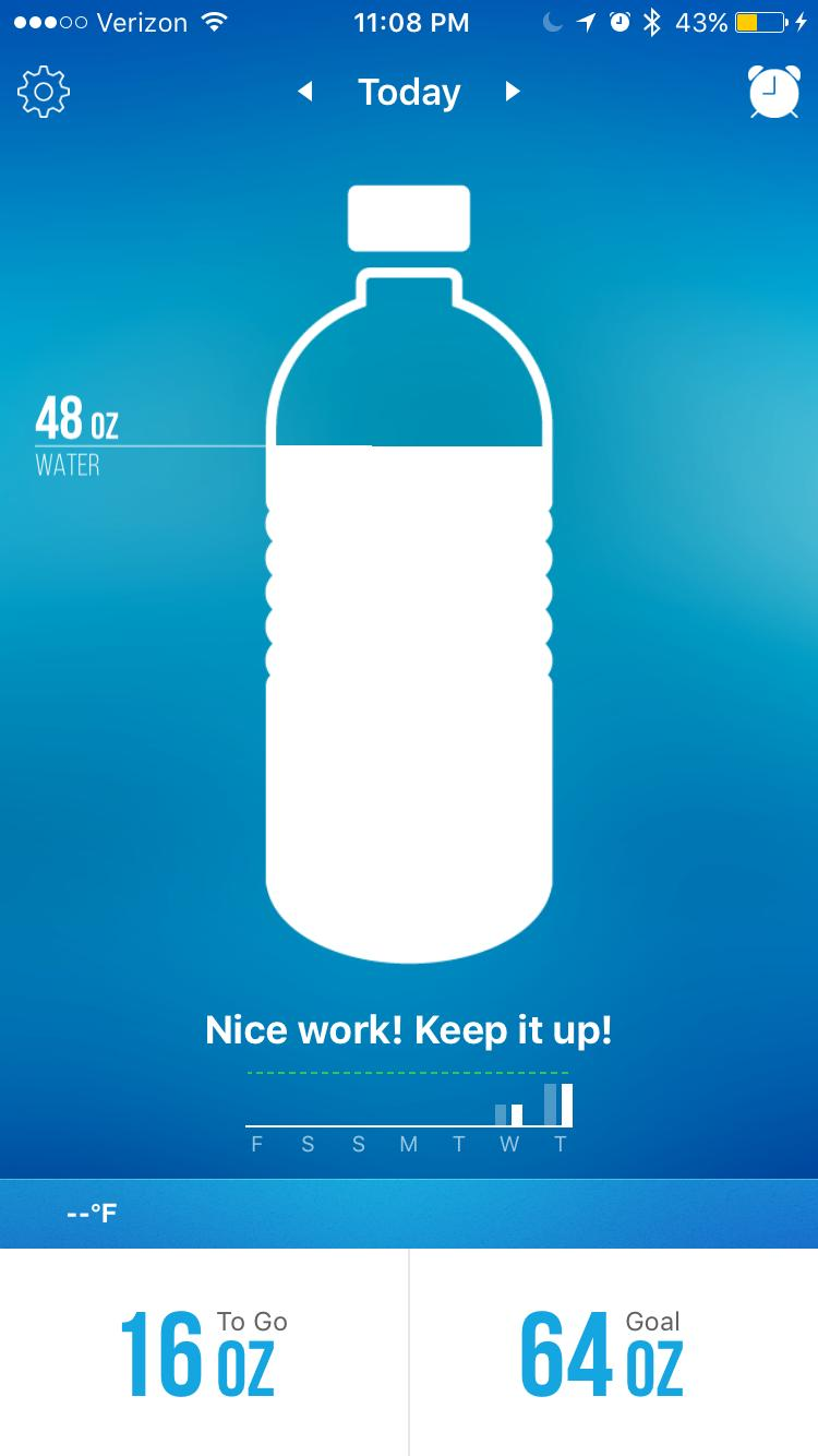 screenshot of Waterlogged app